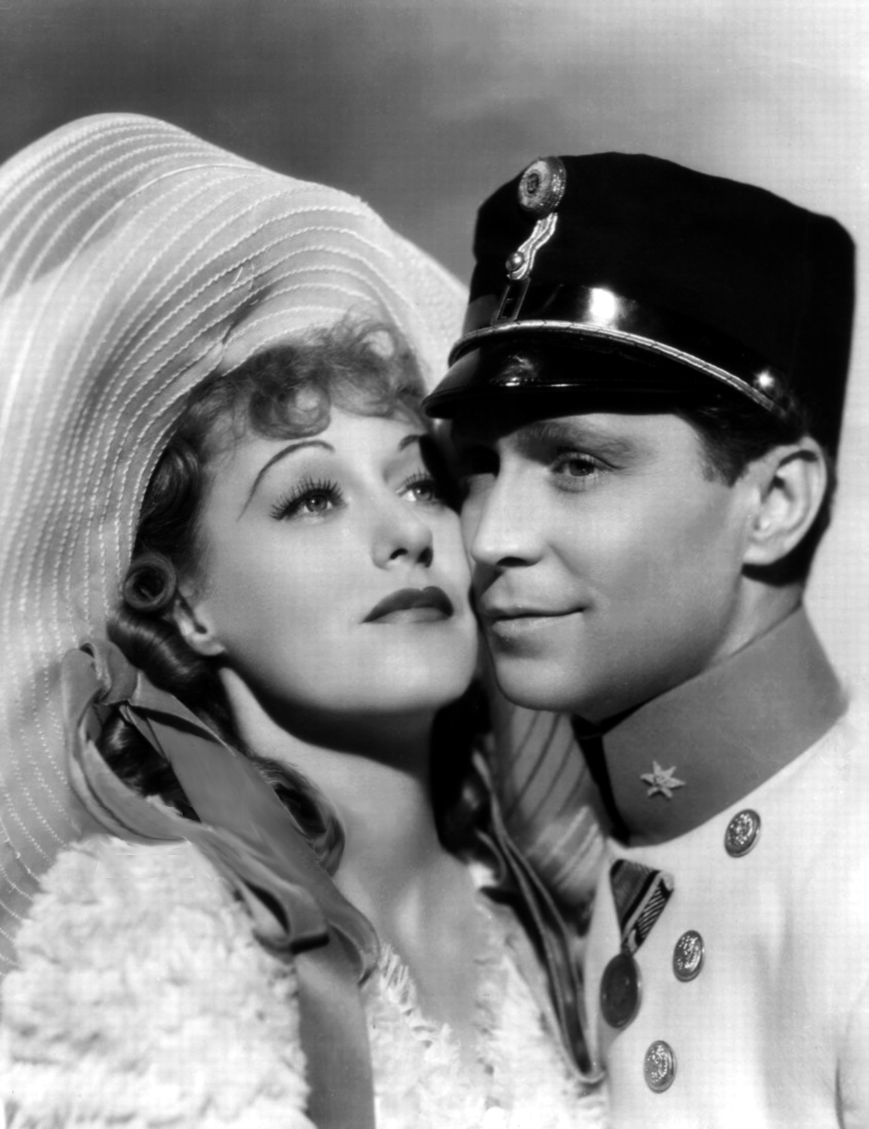 Franchot Tone with Grace Moore.