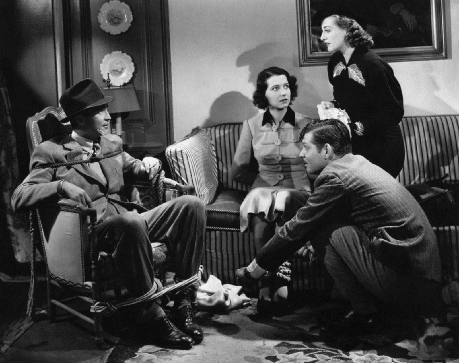 (L to R)  Franchot Tone,Mona Barrie,Clark Gable,Joan Crawford