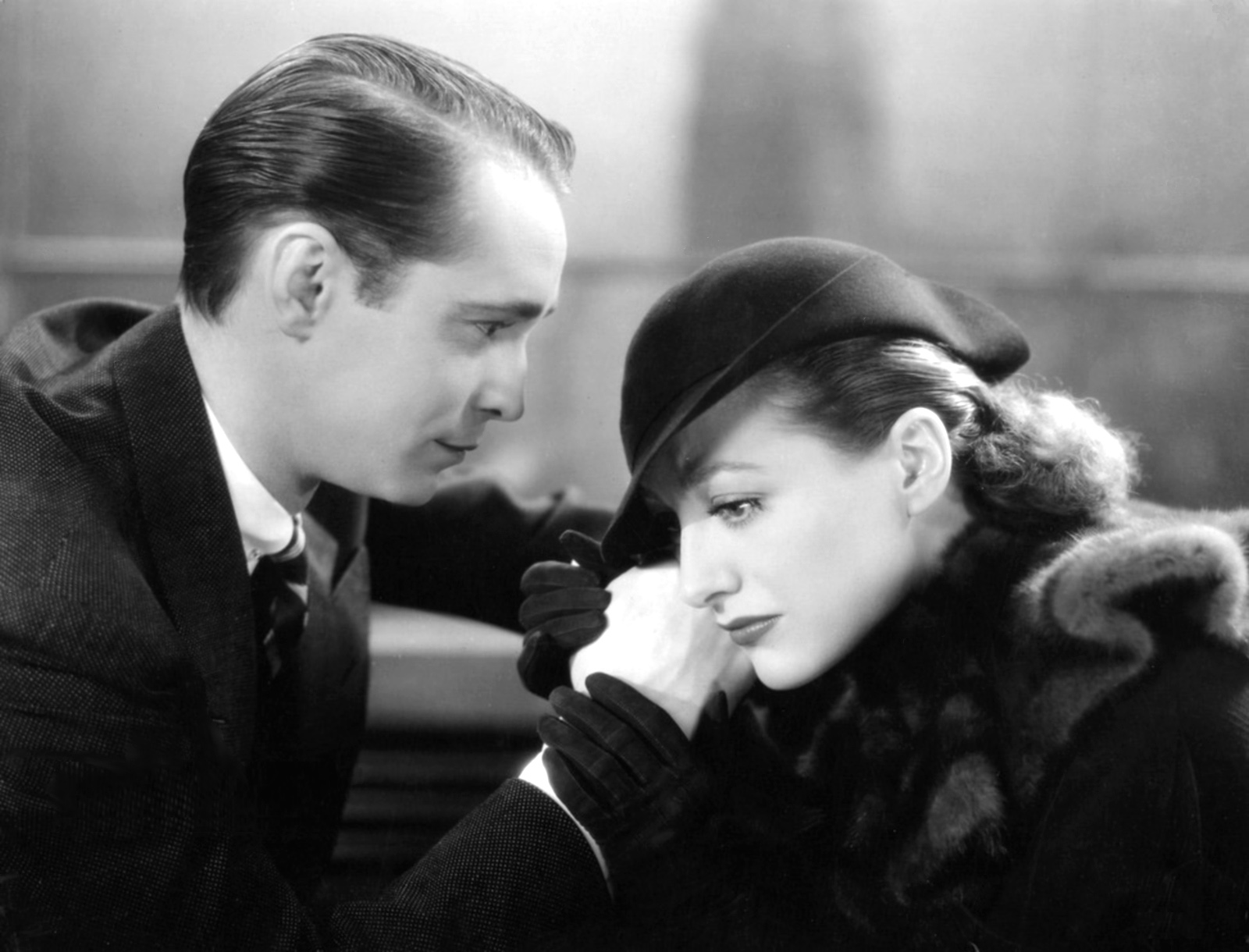 Franchot Tone with Joan Crawford.