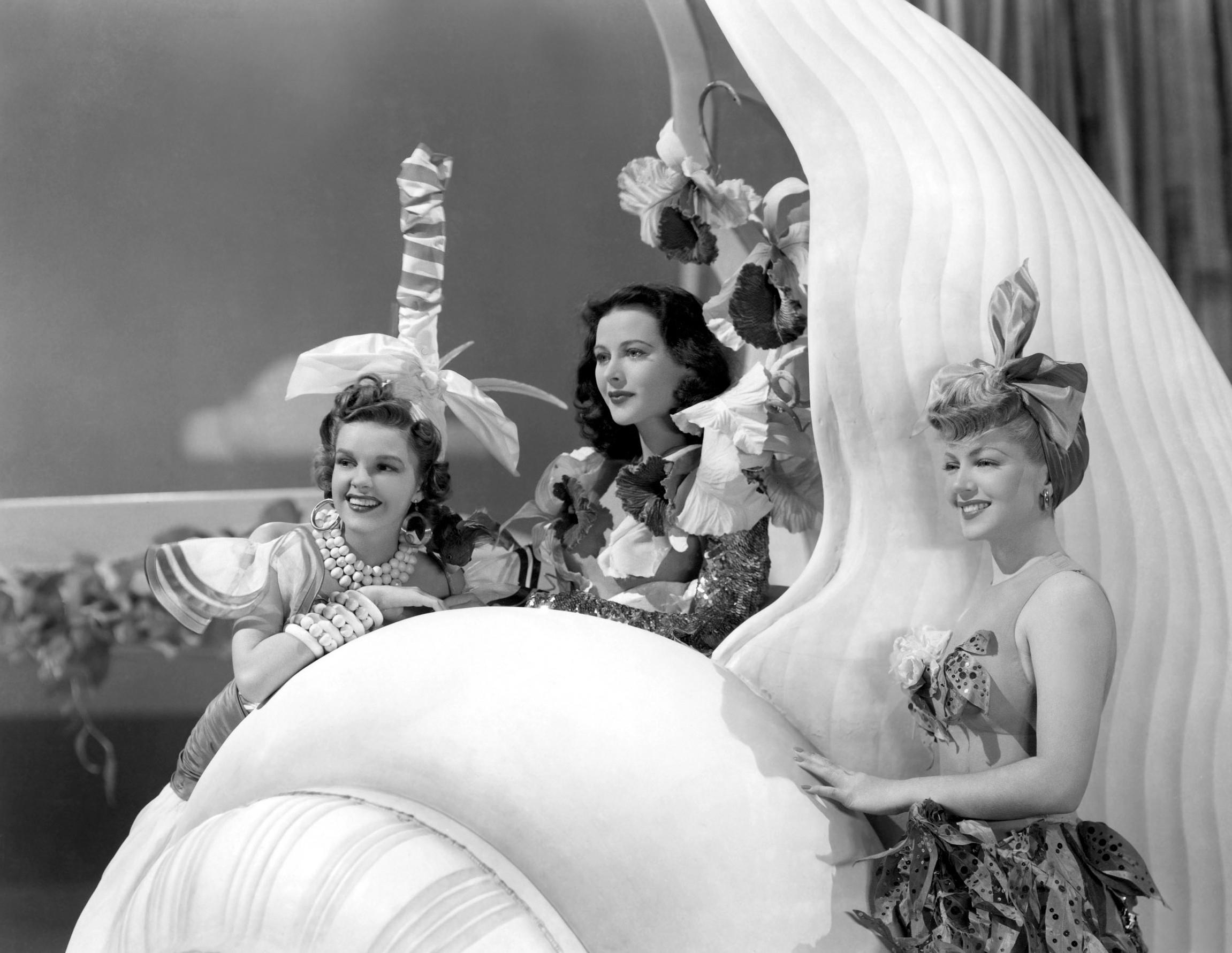 (L to R)  Judy Garland, Hedy Lamarr, Lana Turner.