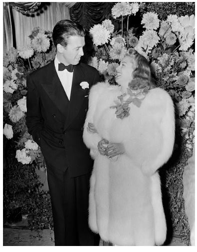 Jimmy Stewart and Lana Turner