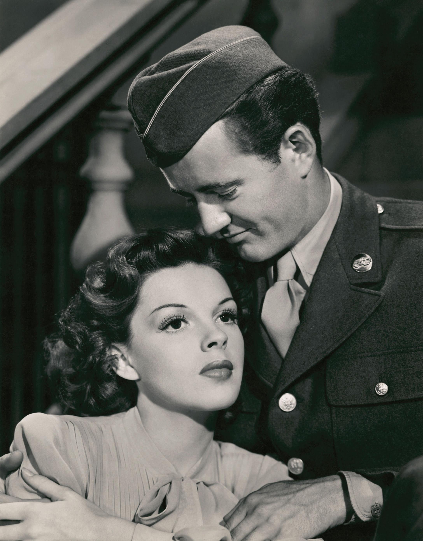 Robert Walker with Judy Garland.