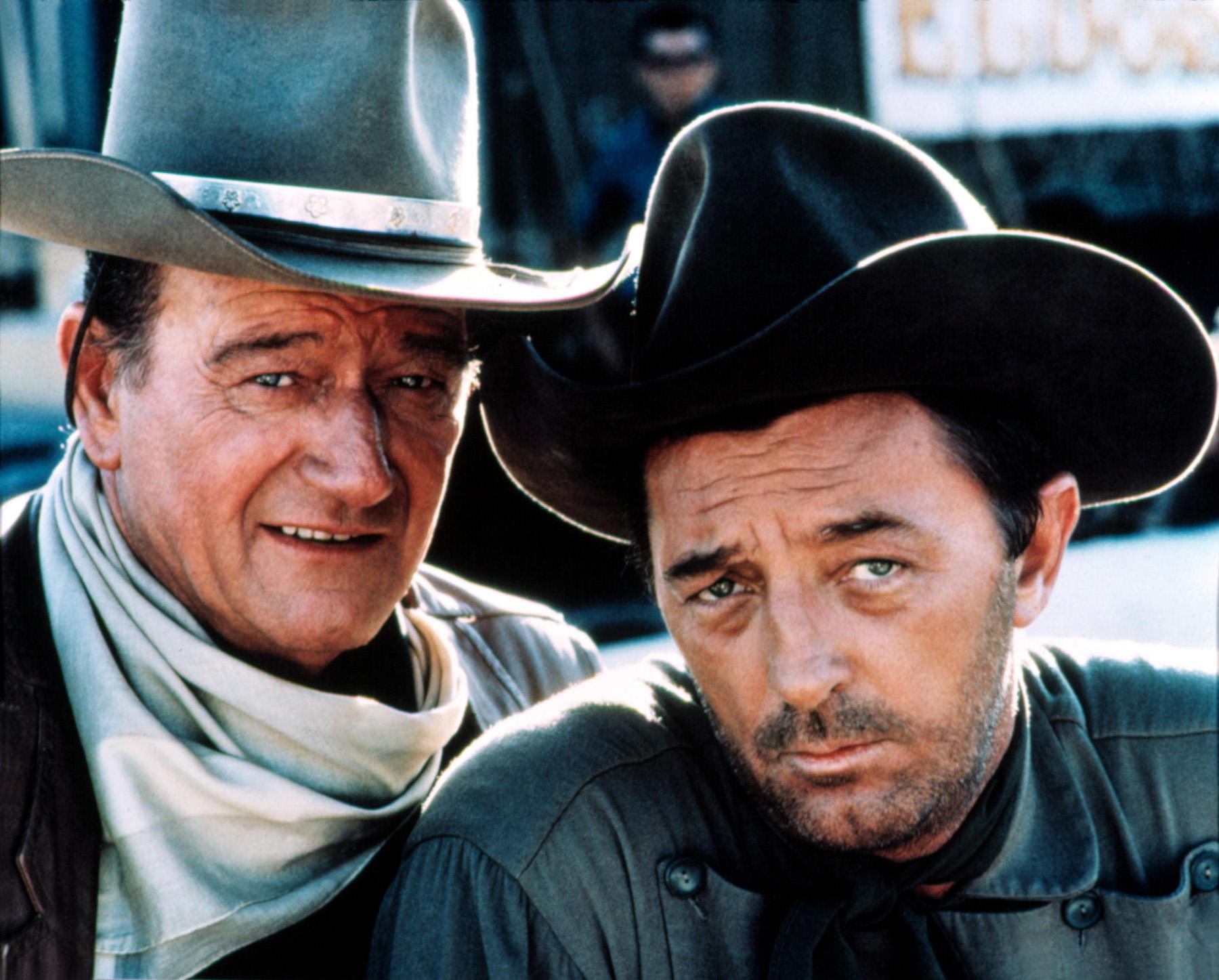 John Wayne with  Robert Mitchum.