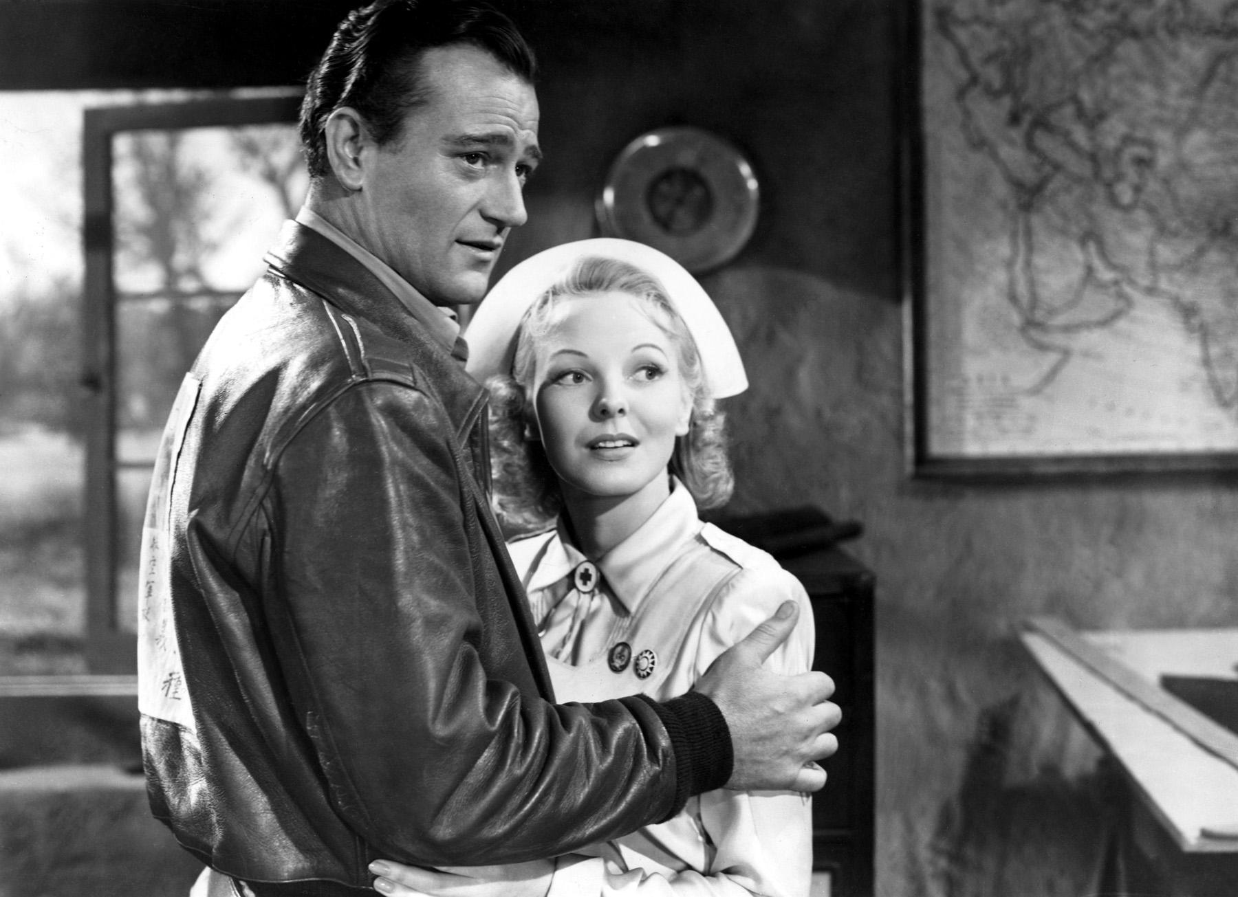 John Wayne with Anna Lee