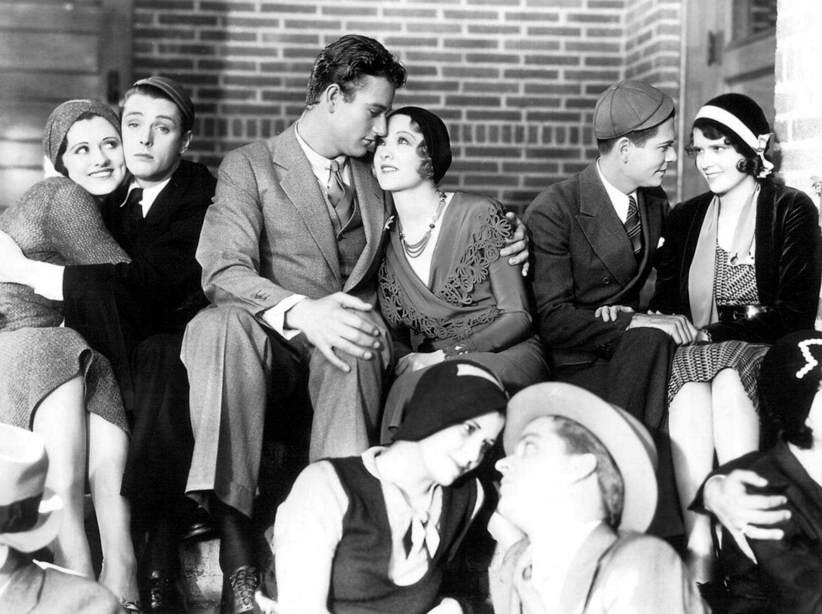 John Wayne with Virginia Cherrill (C).