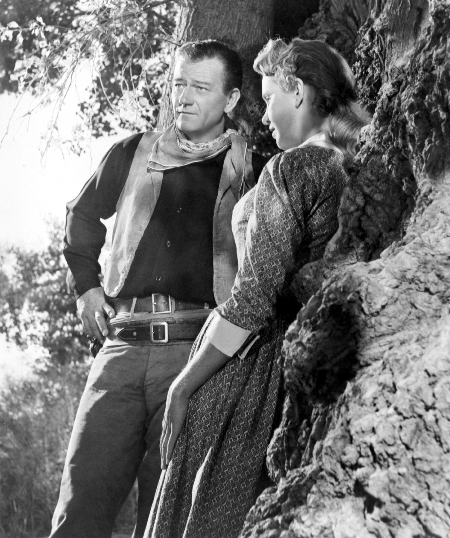 John Wayne with Geraldine Page