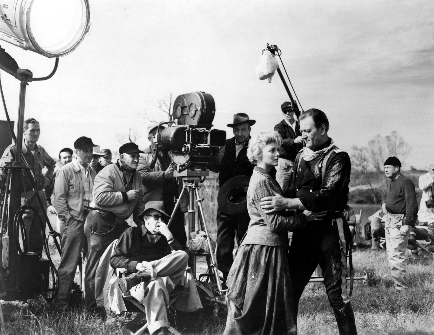 John Wayne With Constance Towers.