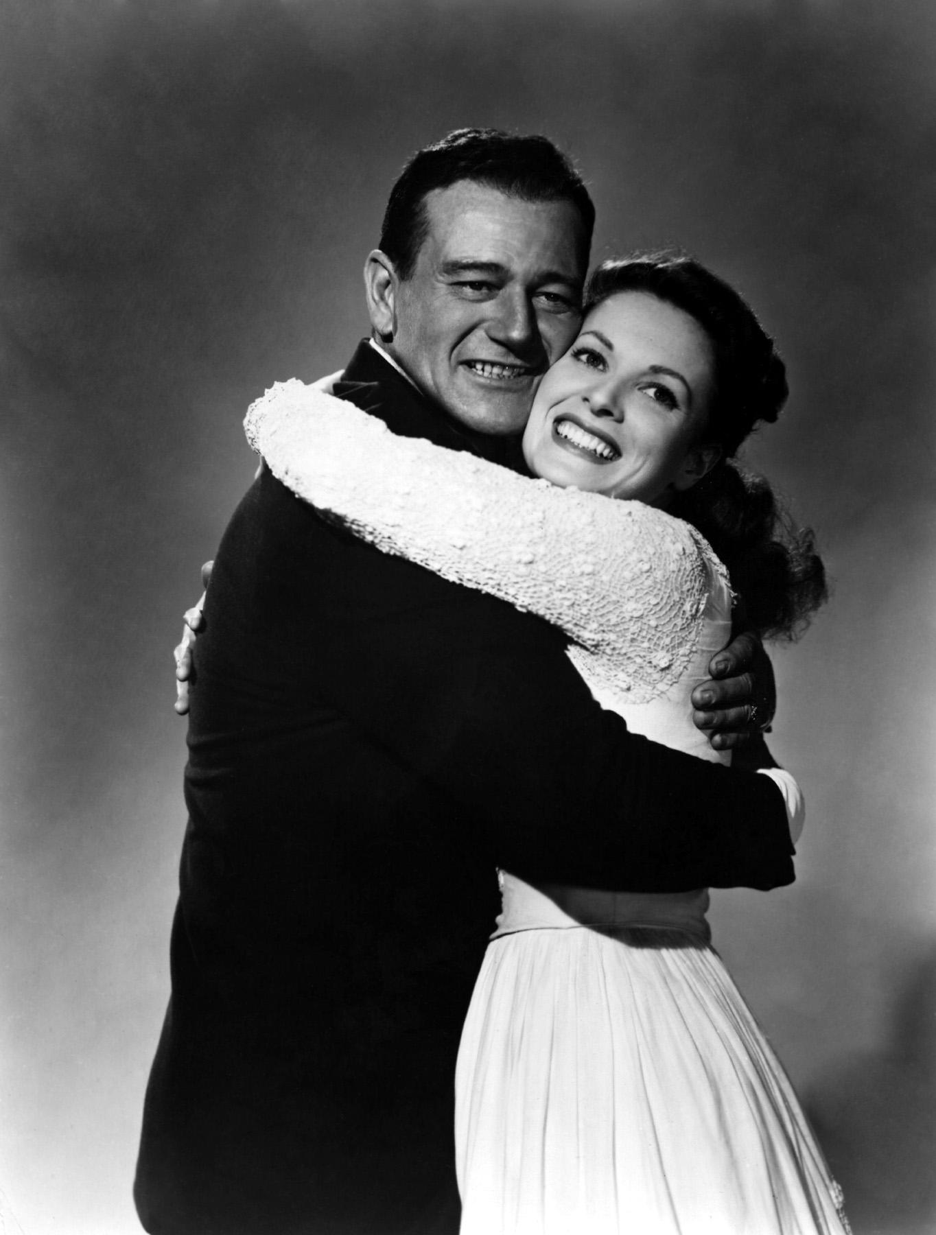 John Wayne with Maureen O'Hara