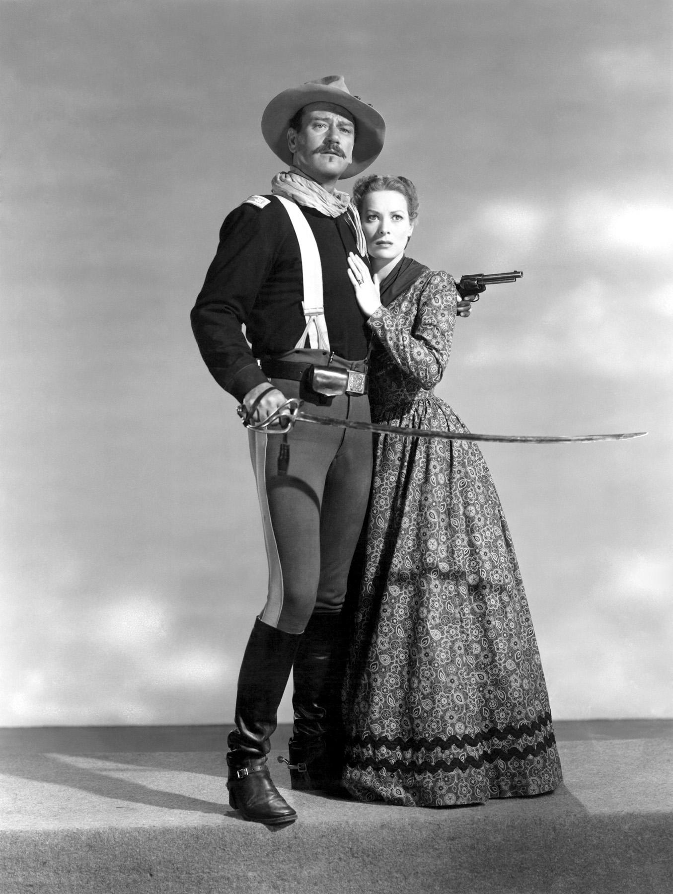 John Wayne with  Maureen O'Hara.