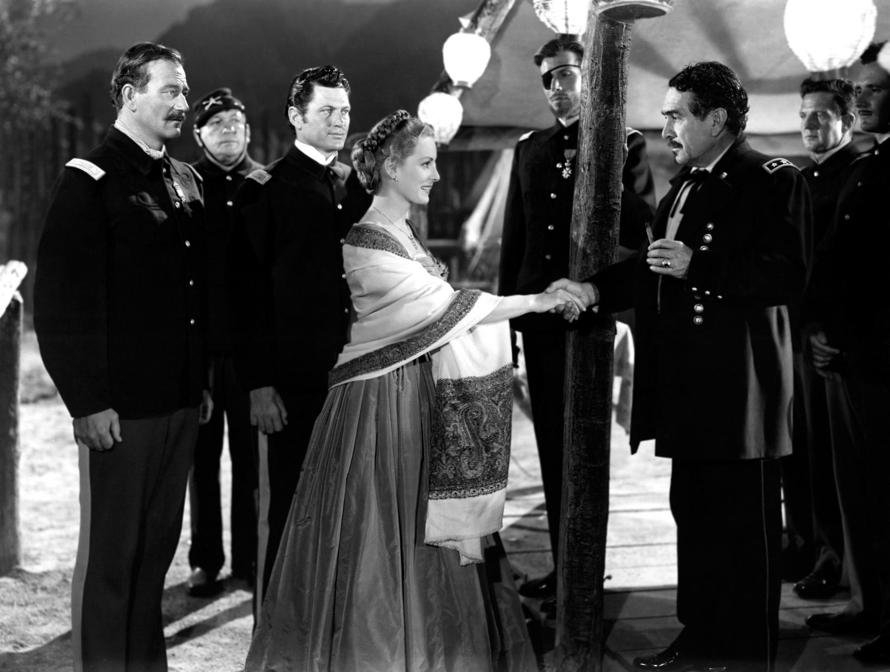 John Wayne with Victor McLaglen,Maureen O'Hara and J. Carrol Naish