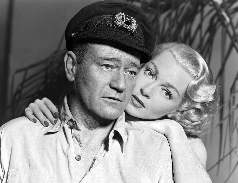 John Wayne with  Lana Turner.