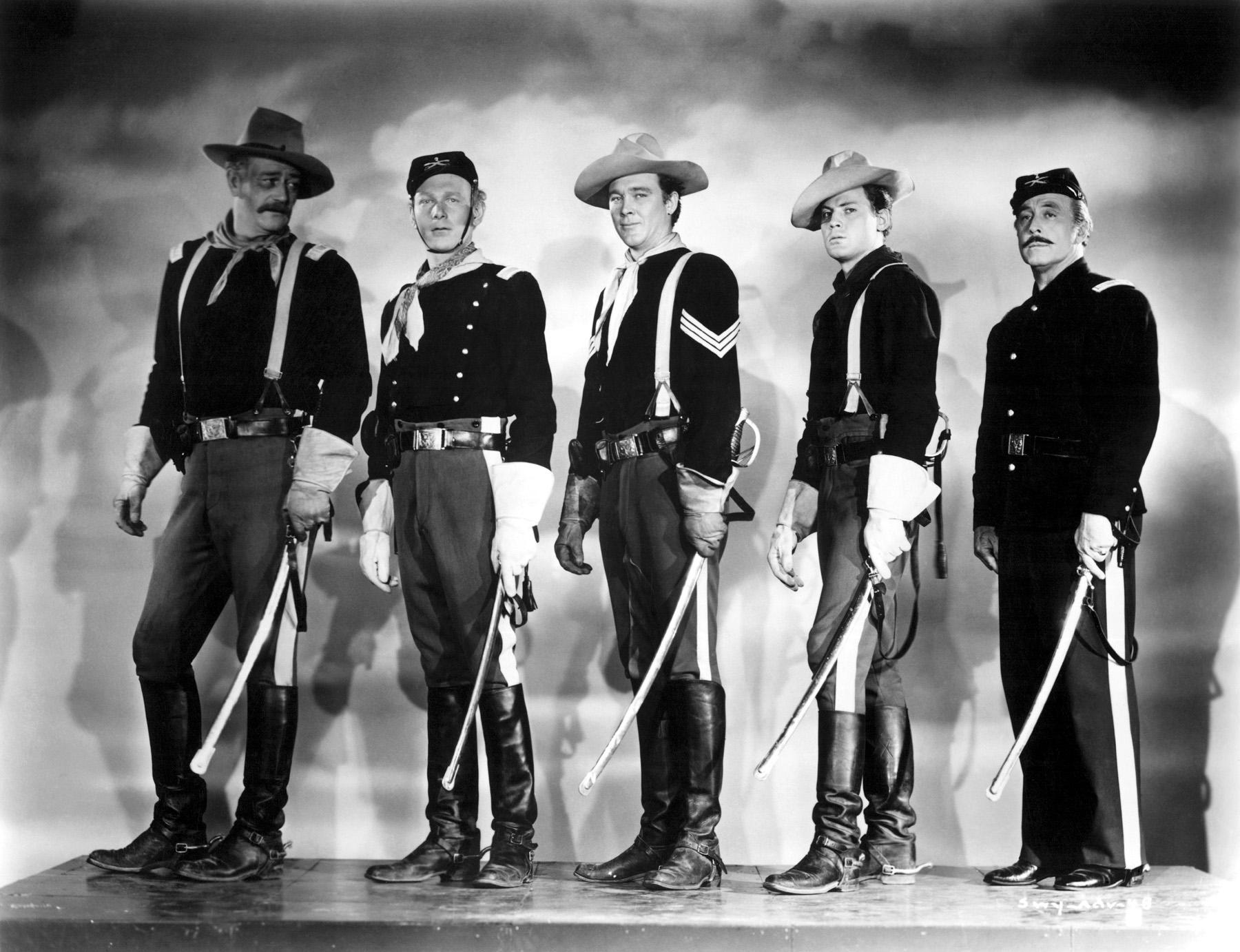 John Wayne with Harry Carey, Jr.