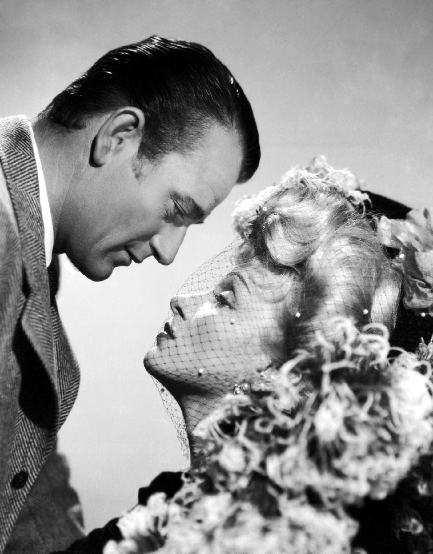 John Wayne with Marlene Dietrich