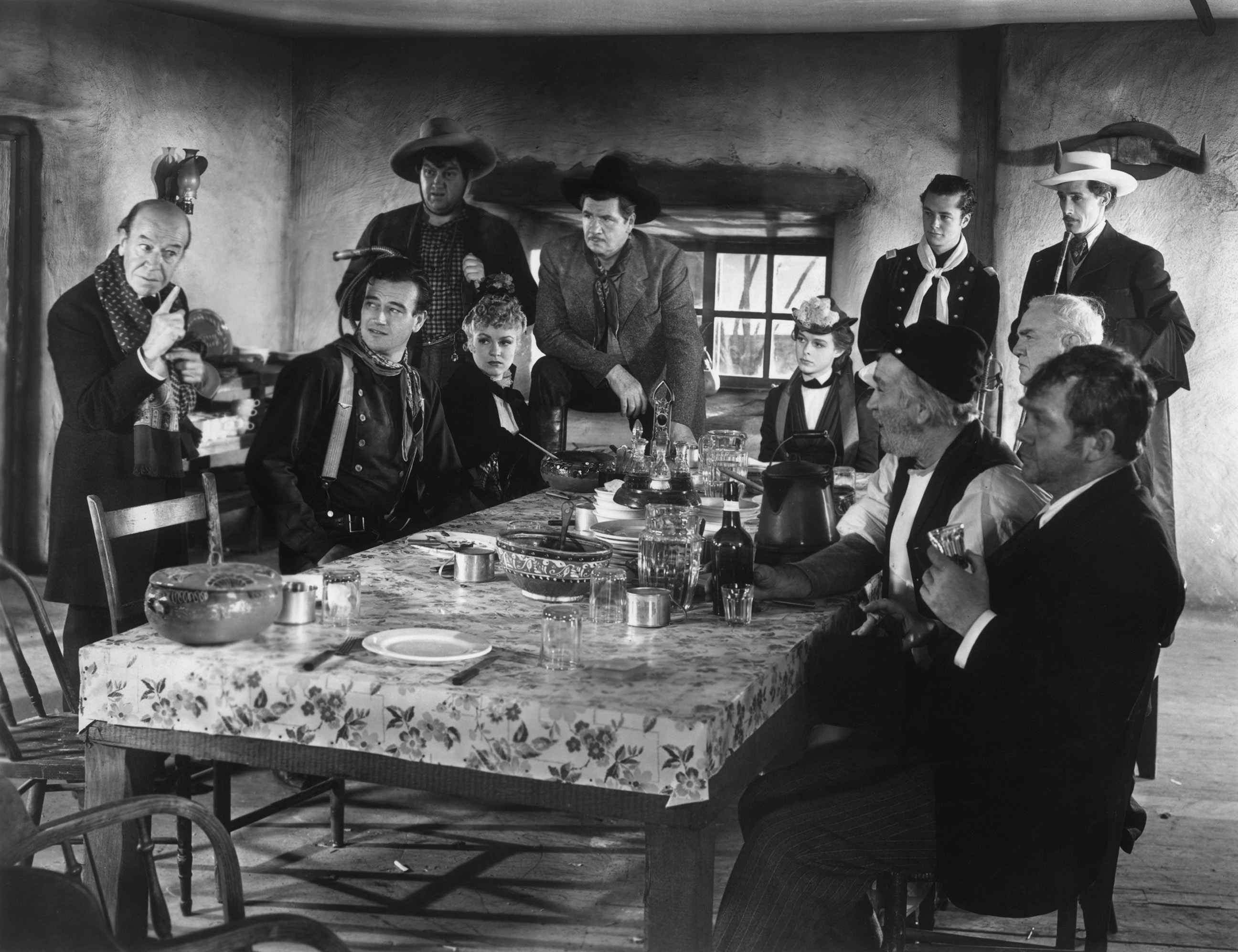 John Wayne with Donald Meek, Andy Devine,Claire Trevor, George Bancroft,Louise Platt, Tim Holt,John Carradine, Berton Churchill,Tom Tyler and Thomas Mitchell
