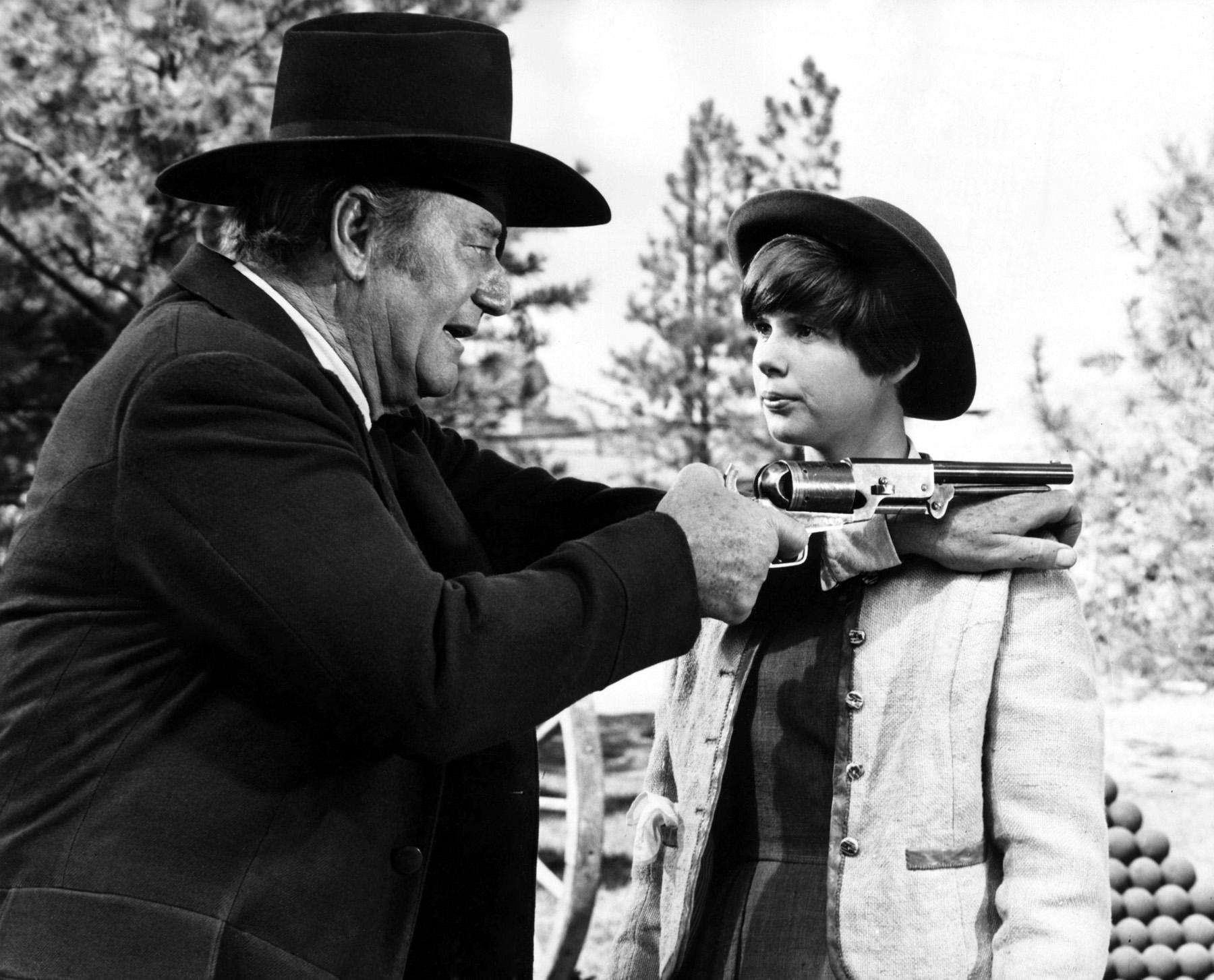 John Wayne with Kim Darby