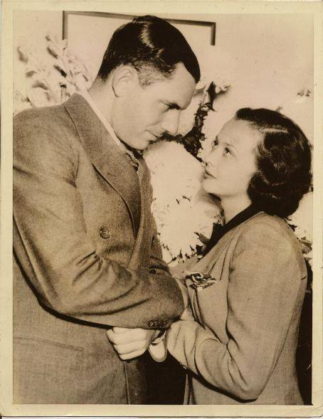 Sylvia Sidney and first husband, Bennett Cerf, 1935