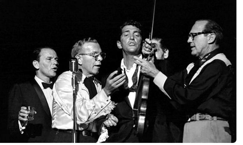 Frank Sinatra, George Burns, Milton Berle, Dean Martin, and Jack Benny