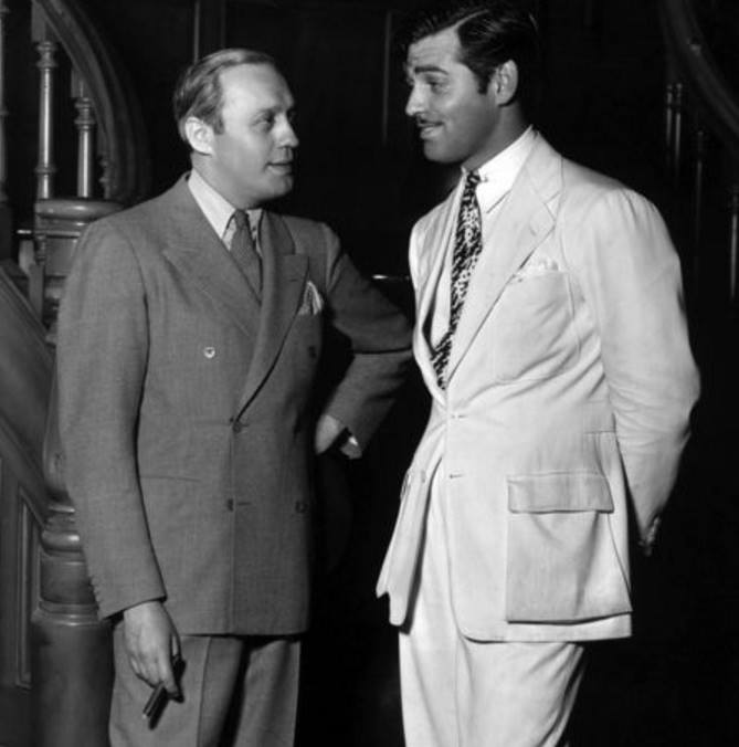 Jack Benny and Clark Gable