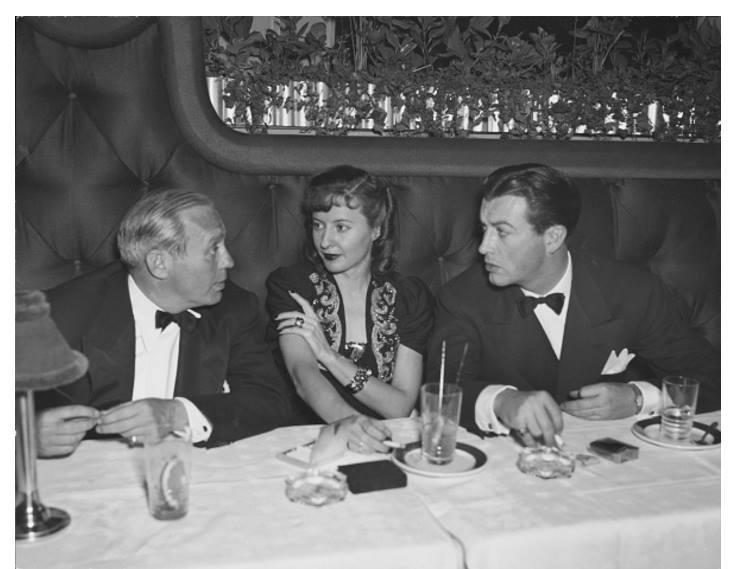 Jack Benny, Barbara Stanwyck, Robert Taylor