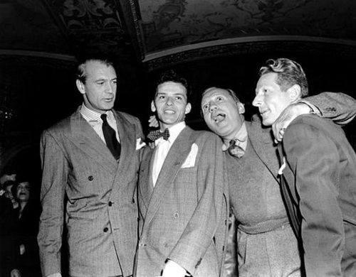 Gary Cooper, Frank Sinatra, Jack Benny and Danny Kaye