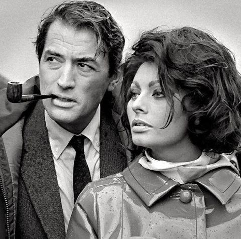 GREGORY PECK & SOPHIA LOREN