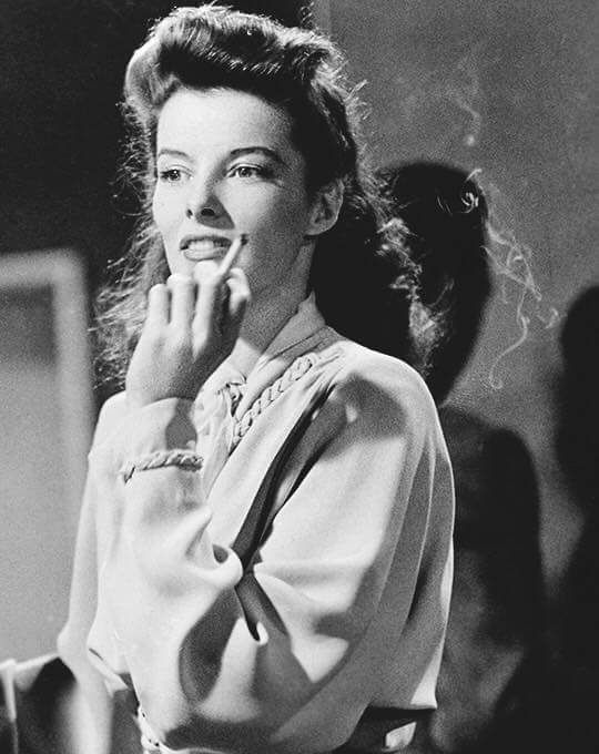 Katharine Hepburn photographed on the set of A Woman of The Year(1941)