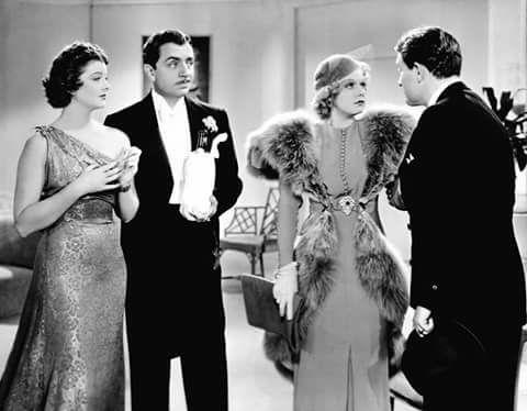 Myrna Loy, William Powell, Jean Harlow & Spencer Tracy