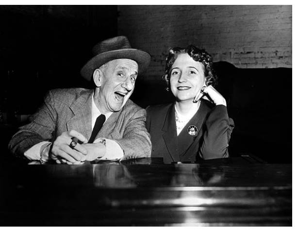 Jimmy Durante and Margaret Truman