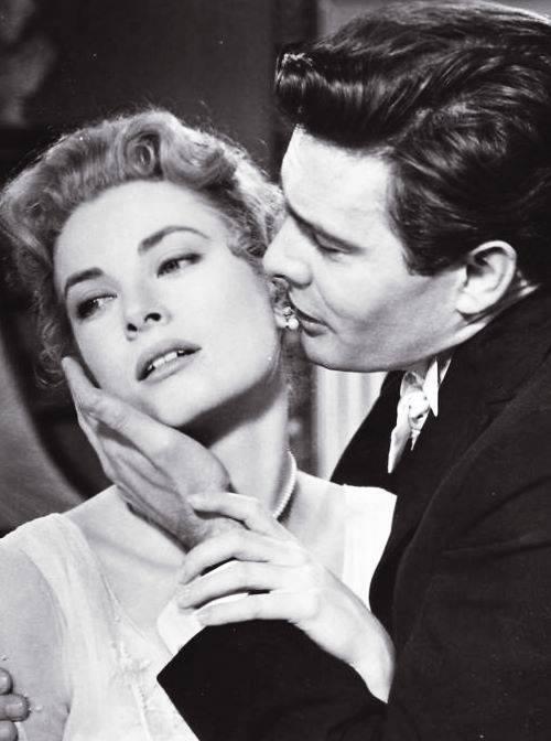 Grace Kelly and Louis Jourdan