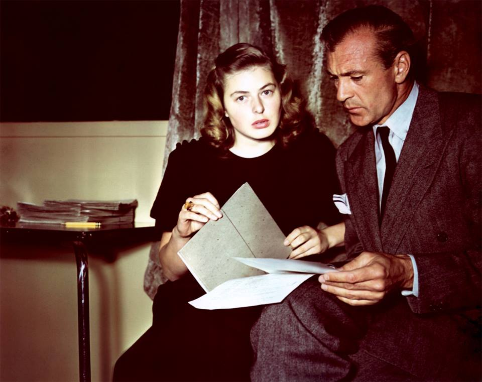 Ingrid Bergman and Gary Cooper,
