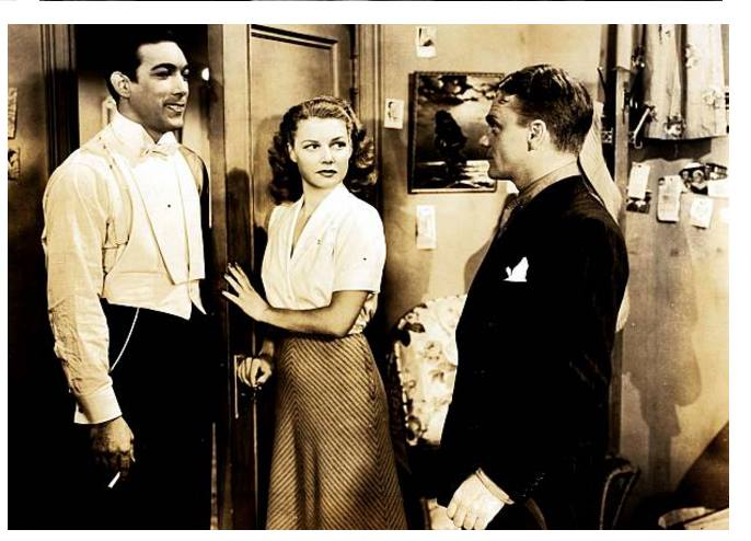 Anthony Quinn, Ann Sheridan and James Cagney