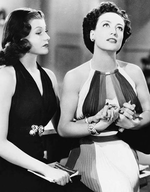 Rita Hayworth & Joan Crawford