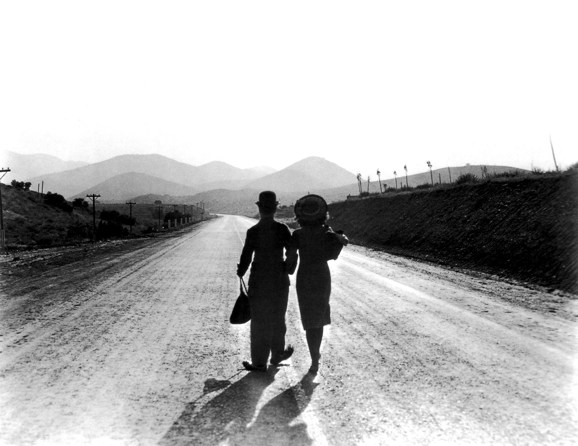 Charlie Chaplin with Paulette Goddard