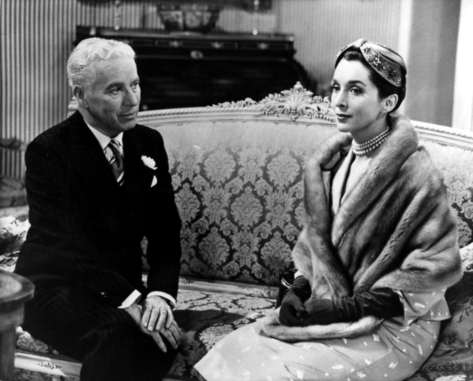 Charlie Chaplin with Maxine Audley
