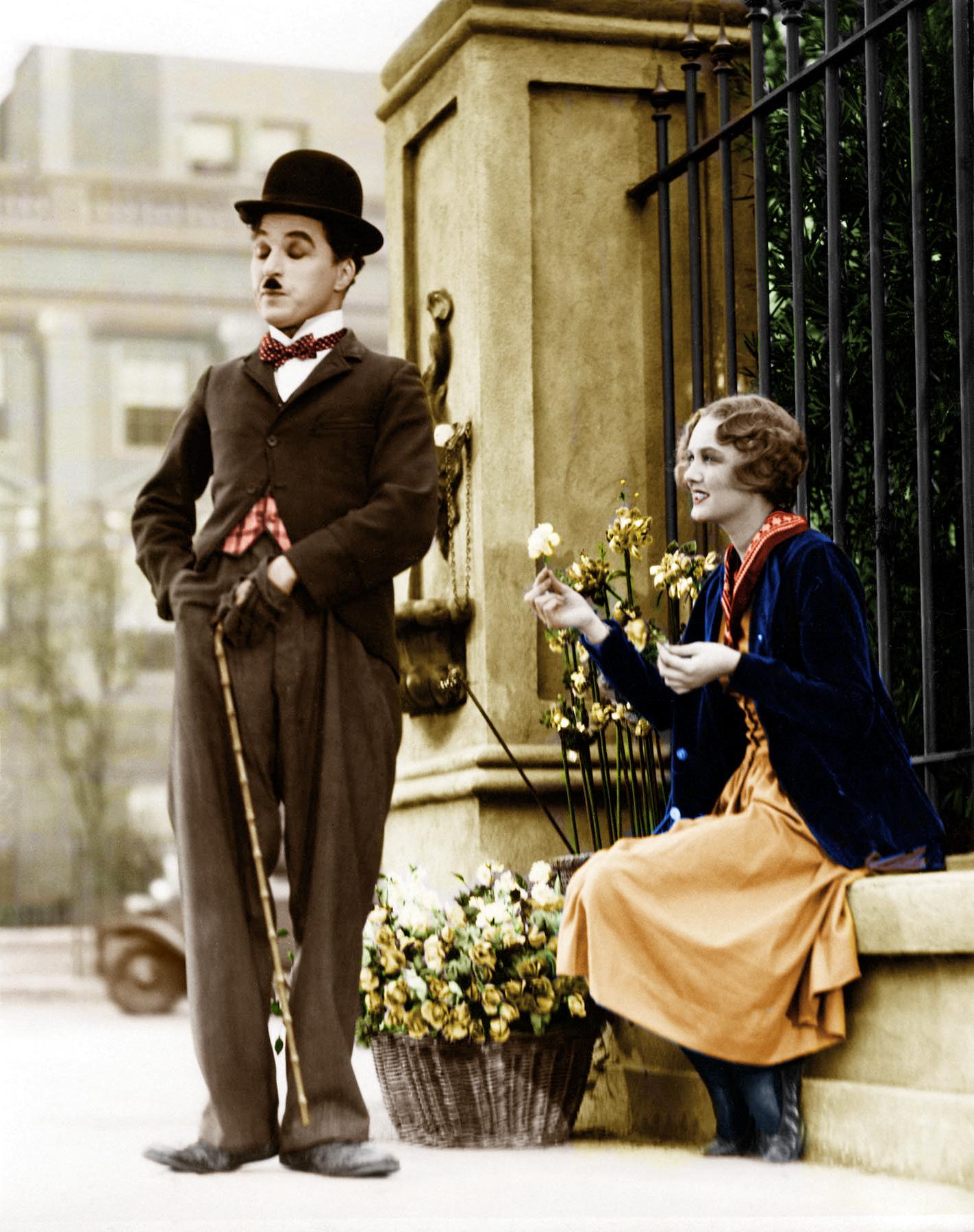 Charlie Chaplin with Virginia Cherrill