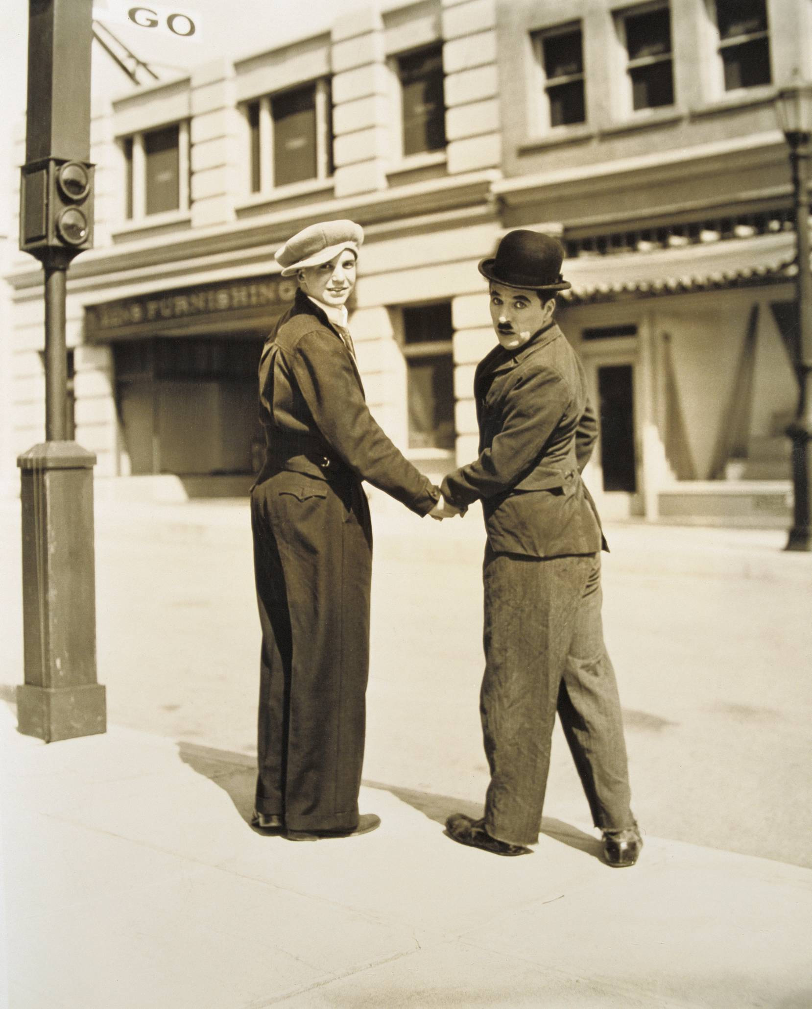 Charlie Chaplin with Jackie Coogan