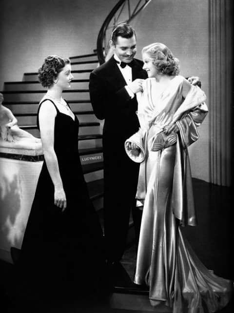 Myrna Loy,Clark Gable & Jean Harlow
