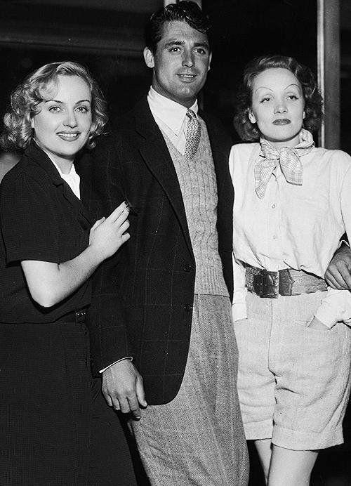 Carole Lombard, Cary Grant & Marlene Dietrich
