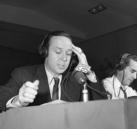 John Daly alongside Edward R. Murrow in his CBS days.