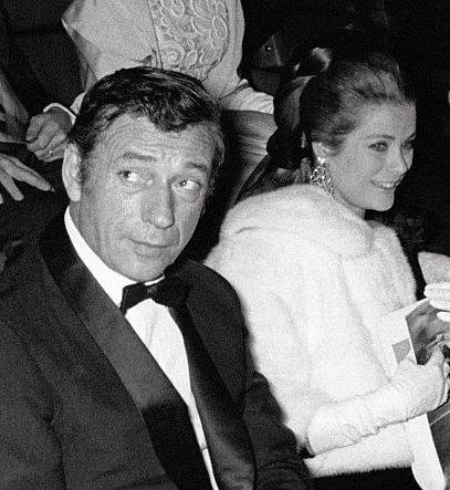 Grace Kelly with Yves Montand