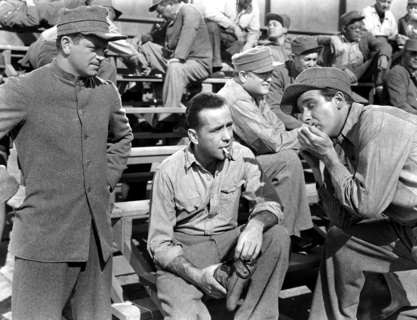 Humphrey Bogart with Murray Alper and Chick Chandler
