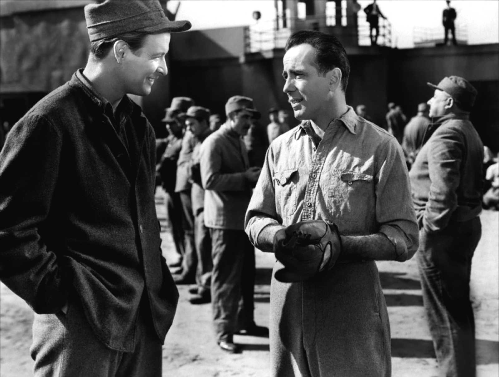 Humphrey Bogart with Richard Travis (L)