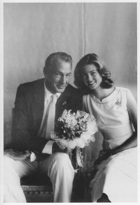 Gary Cooper and his beautiful daughter Maria