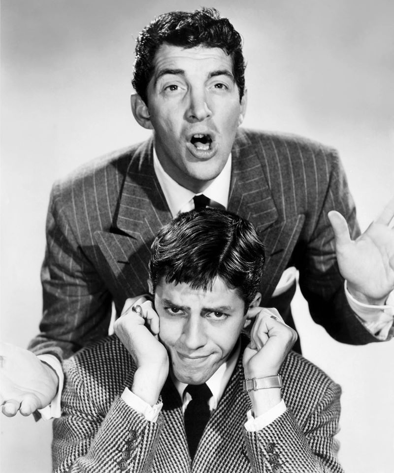 Jerry Lewis and Dean Martin.