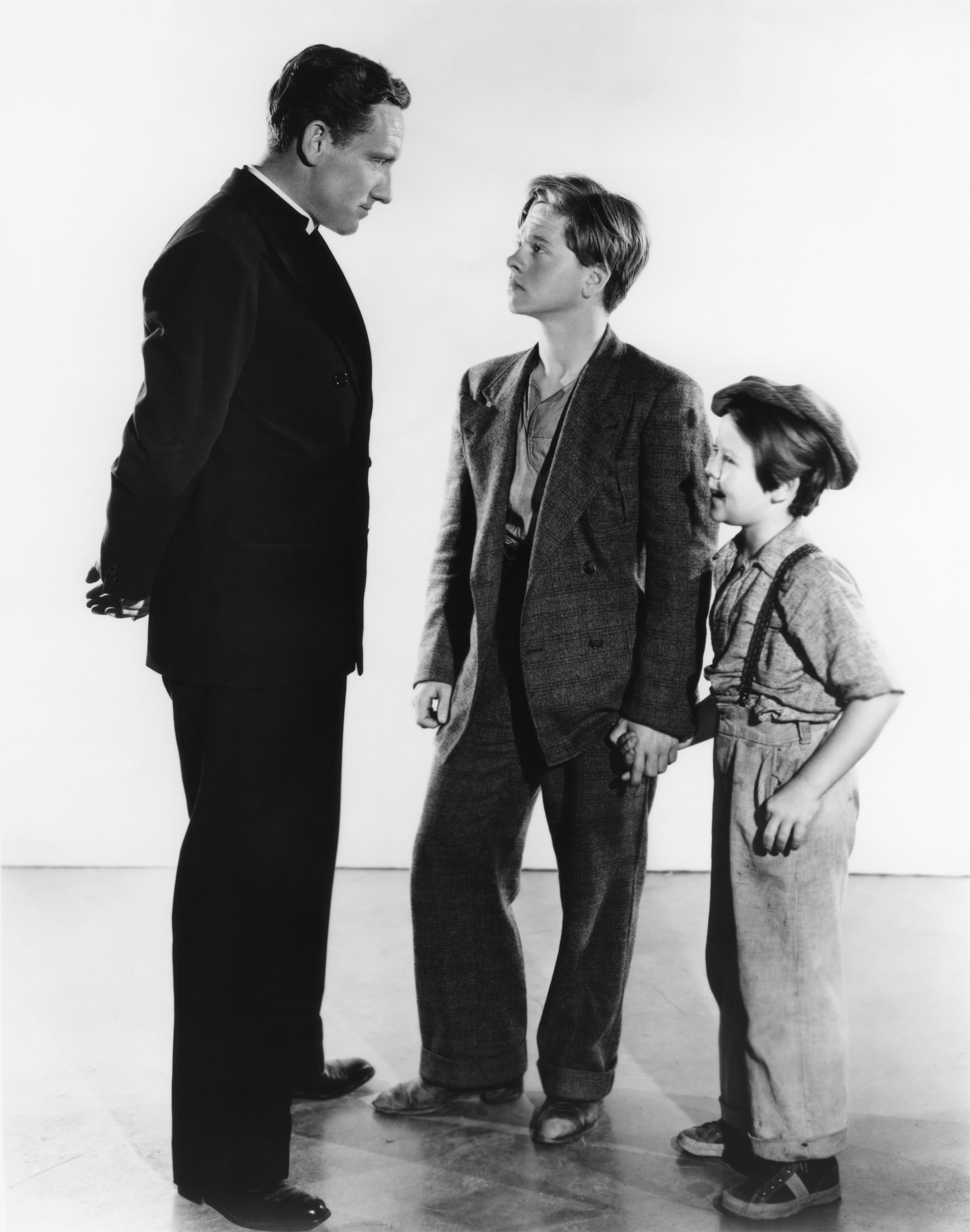 Spencer Tracy with Mickey Rooney and Bobs Watson