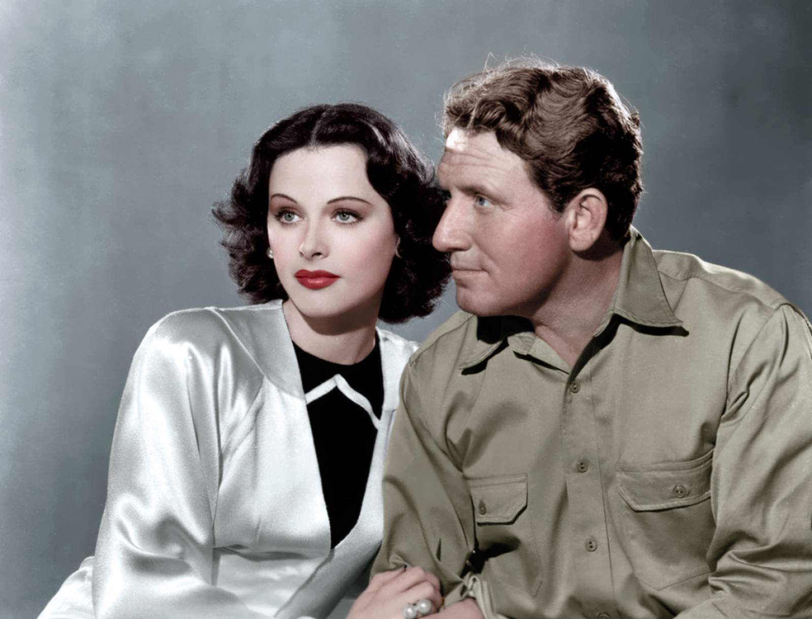 Spencer Tracy with Hedy Lamarr