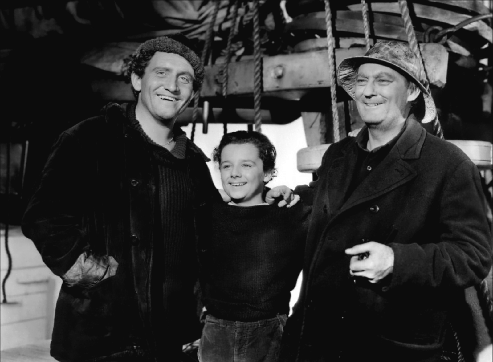 Spencer Tracy with Freddie Bartholomew and Lionel Barrymore