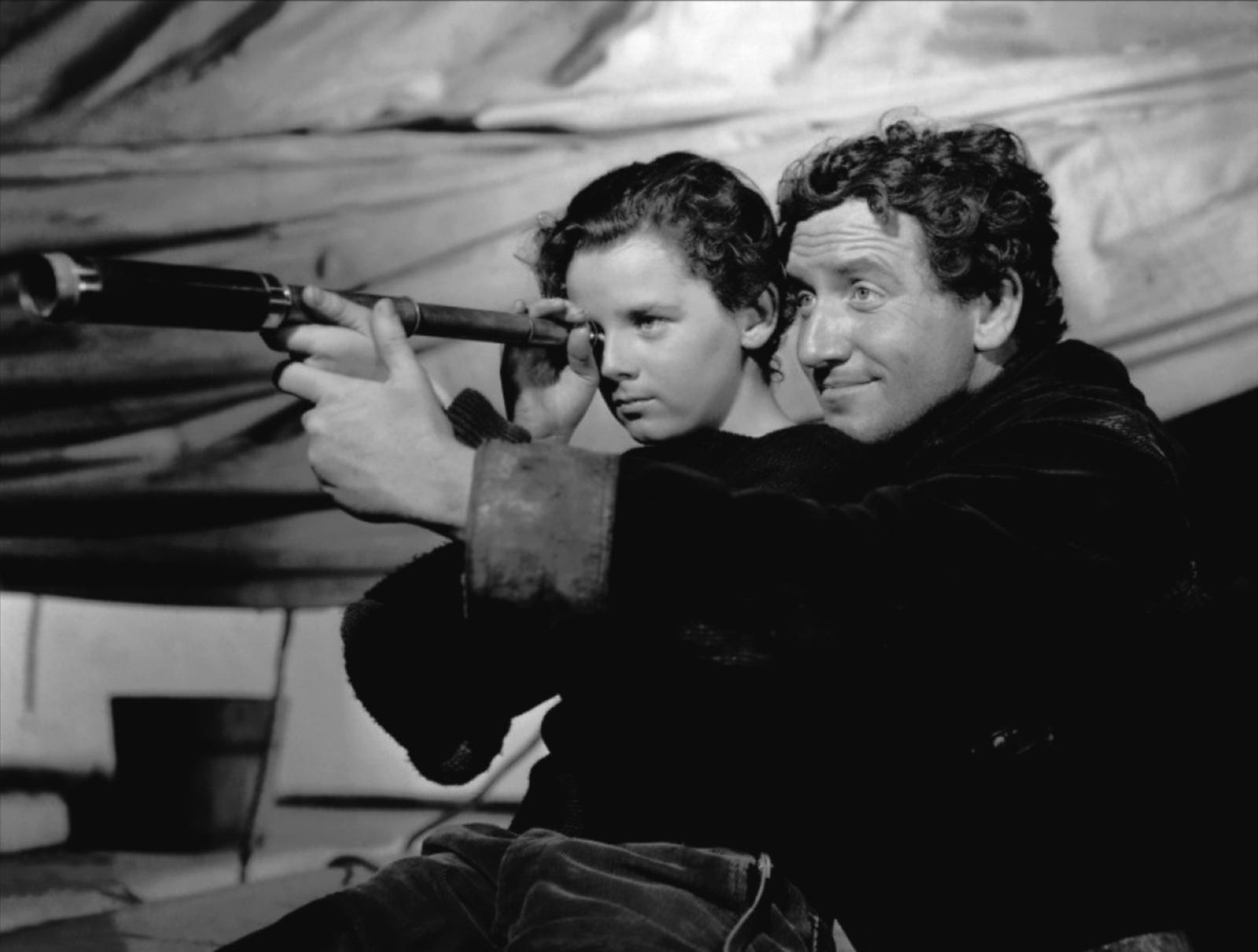 Spencer Tracy with  Freddie Bartholomew (L)