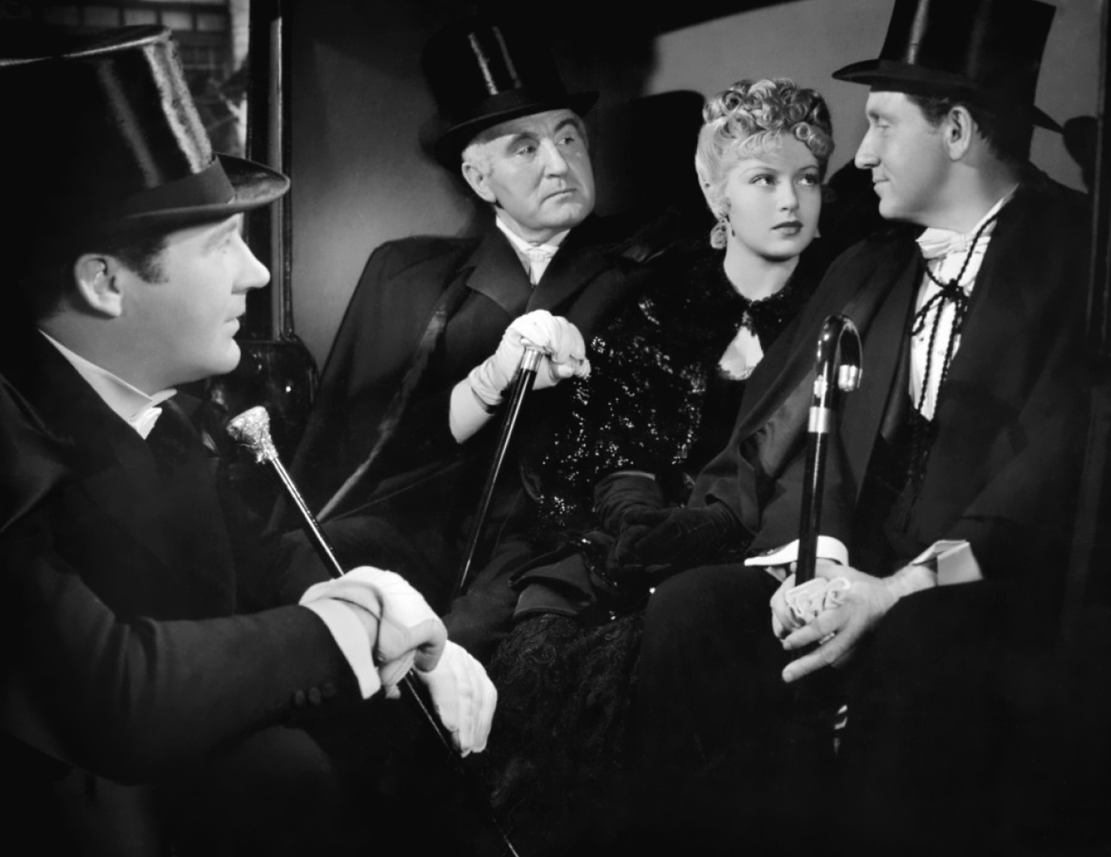 Spencer Tracy with  Ian Hunter,Donald Crisp and Lana Turner,