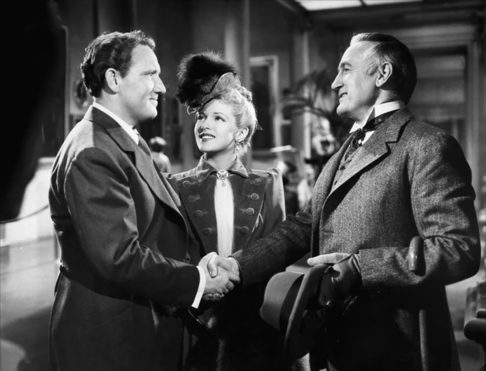 Spencer Tracy with Lana Turner and Donald Crisp